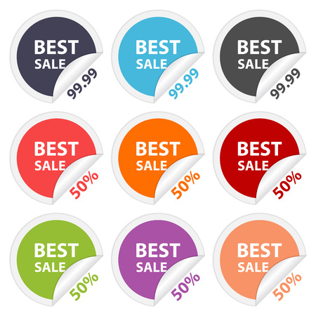sellout: Vector stickers best sale  Design elements