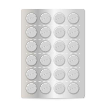 a tablet blister: Pills in a blister pack  Illustration