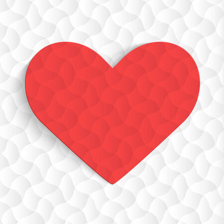 Background with red hearts  Vector illustration  Vector