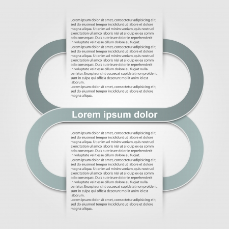 proclaim: Abstract paper infographic.  Illustration