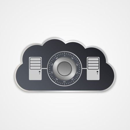 social security: cloud computing concept. Modern design template.