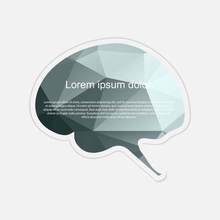 Brain sticker.  illustration.  Vector