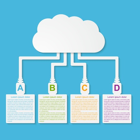 Vector cloud computing concept. Modern design template. Vector