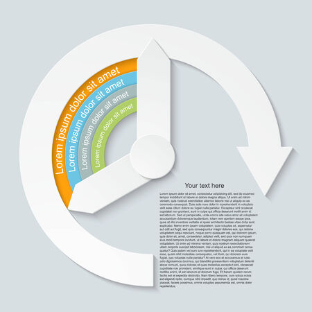 Abstract paper infographic. Vector