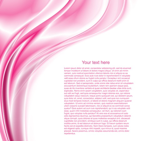 Abstract vector background waves with text Vector