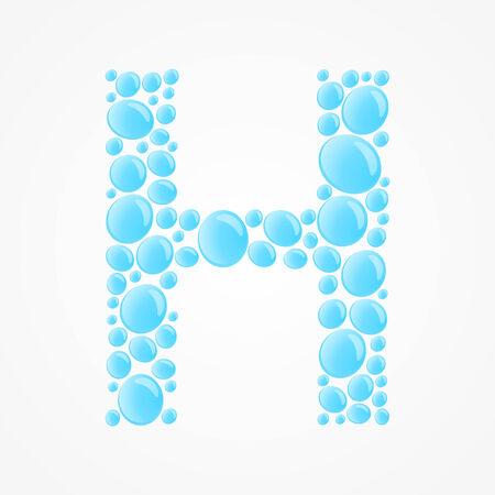 Alphabet  Letter H Vector