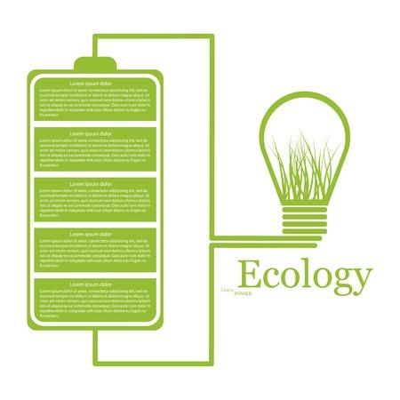 Ecologic modern infographic. Design elements