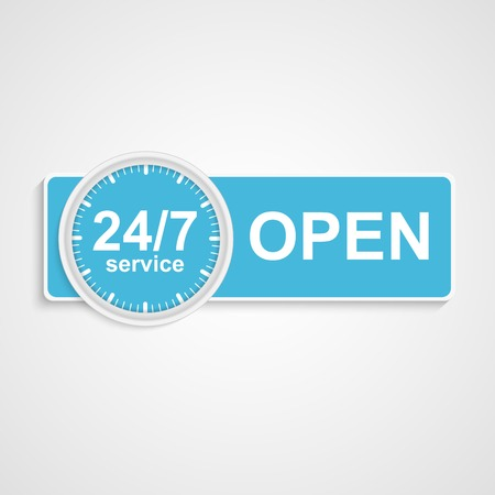 24h: 24 hours 7 days customer service icon
