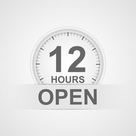 customer service icon: 12 hours customer service icon.