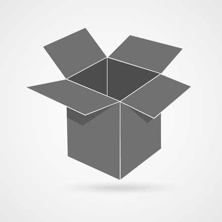 Opened box icon with shadow. Stock Vector - 27734949