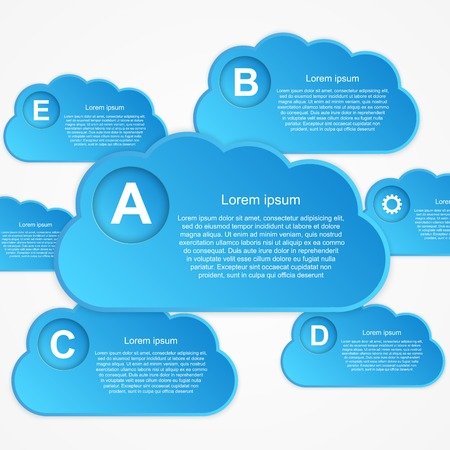 Vector cloud Infographic Vector