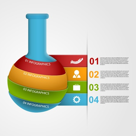 Chemical and science infographic design template. Vector