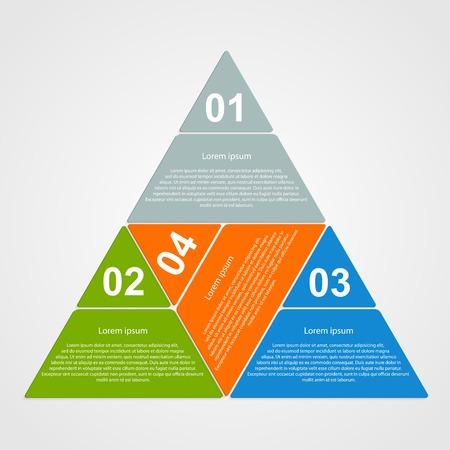 trigonal: Triangular infographic design element.