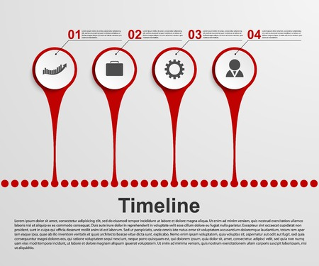 Infographics timeline concept  Vector