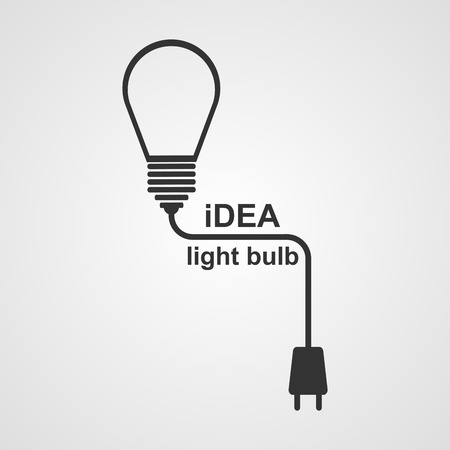 adapter: Light Bulb and plug concept.