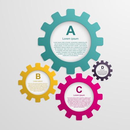 Versnellingen infographic ontwerpsjabloon.