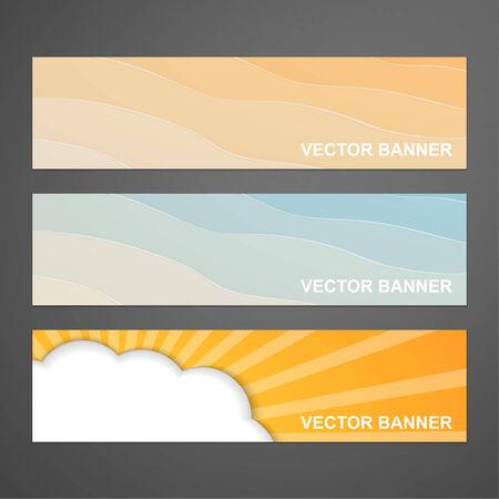 Set of summer banners. Vector Illustration. Vector