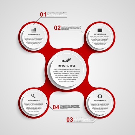 Abstract circle infographic in the form of metabolic. Design elements.