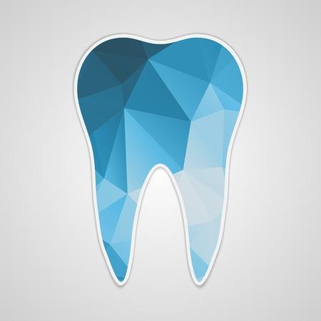Papier veelhoekige blue tooth. Vector illustratie.