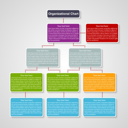 Organization chart template. 矢量图像