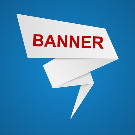 papier banner: Papier-Banner Illustration