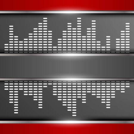 volume glow light: Abstract digital equalizer background. Illustration