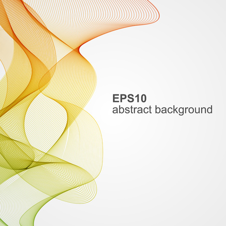 Abstract color wave background. Vector illustration.