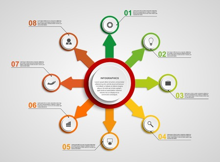 Abstract circle infographic design template. Vector
