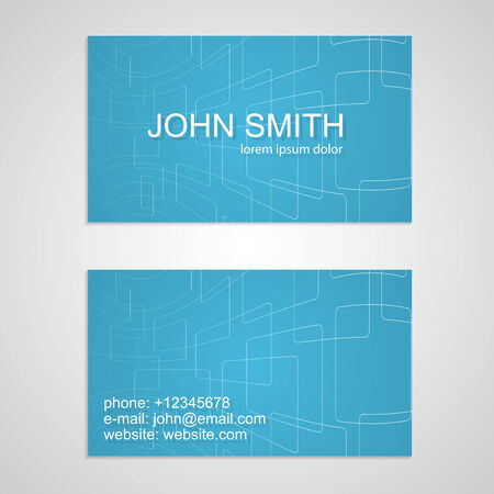 Creative business card template. Vector
