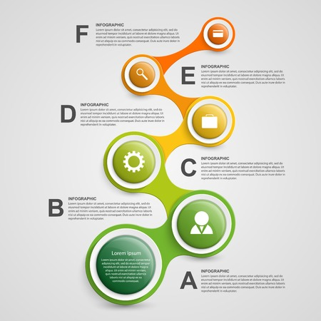 teamwork business: Abstract infographic in the form of metabolic. Design elements.