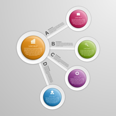 3d circle: Abstract circle infographic design template.