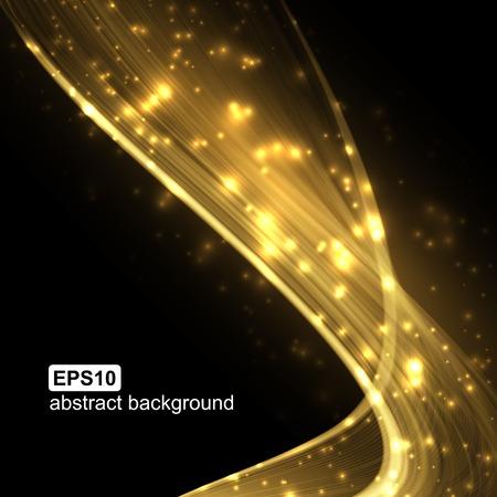 Abstracte lichtgolf futuristische achtergrond. Vector illustratie.