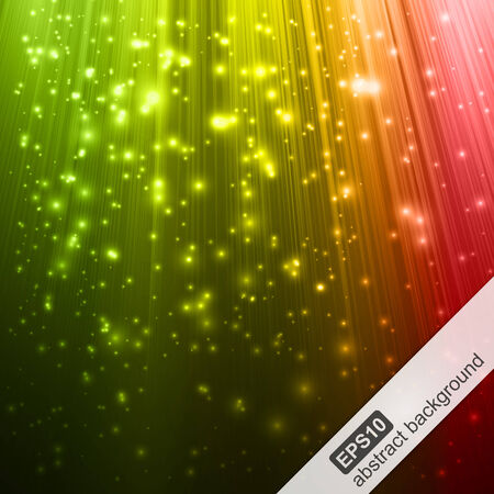 Abstract background with colorful magic light. Vector illustration. Vector