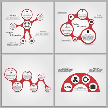 Stel infographics ontwerpelementen in. Vector illustratie. Stock Illustratie