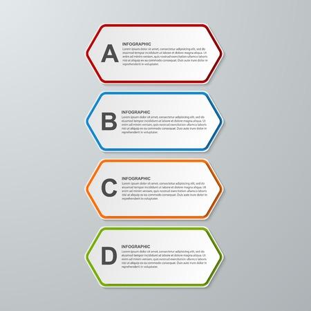 Abstract 3D-Sechseck Geschäftsoptionen Infografiken Vorlage ...