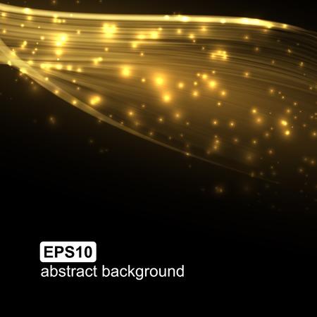 光の波の未来的な背景を抽象化します。ベクトルの図。