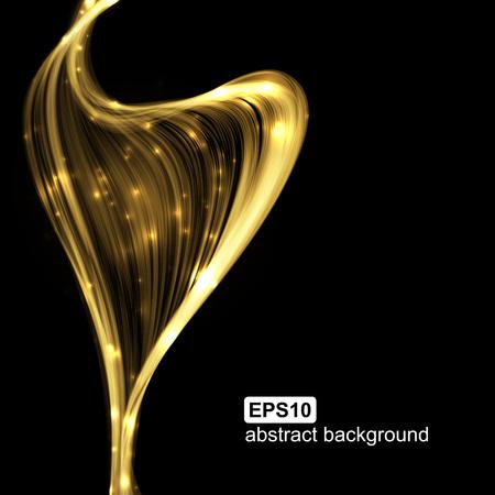 light wave: Abstract wave light background futuristico. Illustrazione vettoriale.