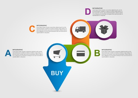 information symbol: Abstract infographic. Store payment plan. Design elements.