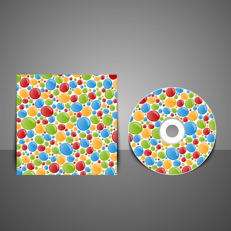 cd rom: CD cover design with colorful bubbles.