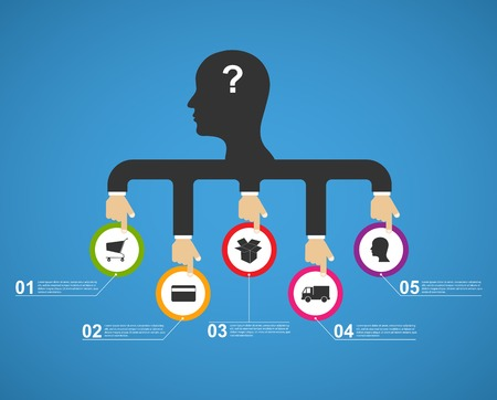 Flat business infographic. Vector concept design. Vector