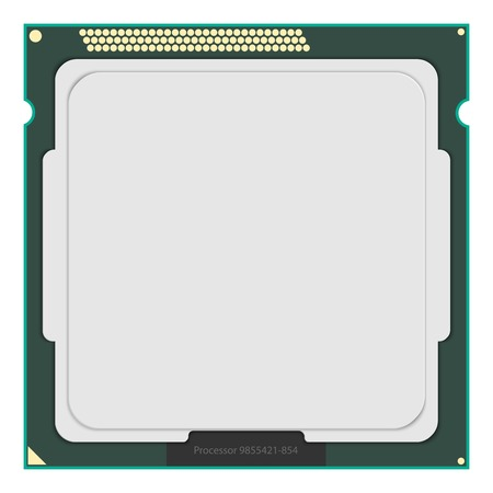 Computer Processor. Vector illustration.