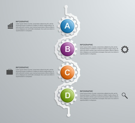 engineering: Abstract gears infographics template. Design element. Illustration