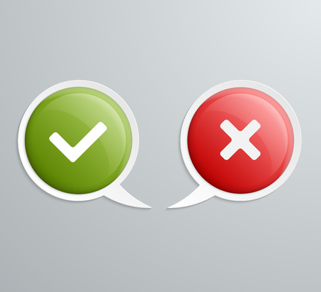 No and Yes Speech Icons. Vector illustration. Vector