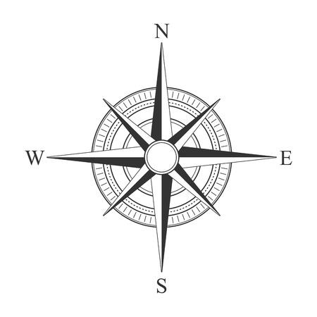 Vector black compass icons. Stock Illustratie