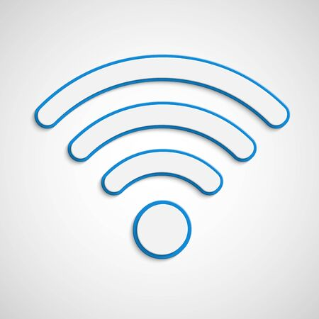 wireless icon: 3D wifi icon