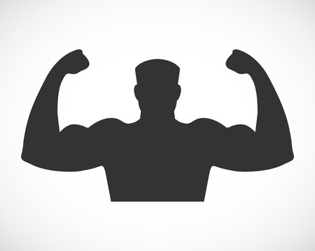 Gym design and street workout icon.