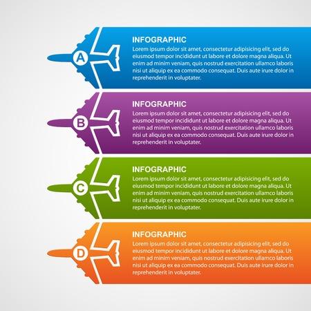 항공 infographics입니다 여행.