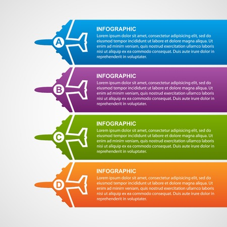 fly: Airlines travel infographics.