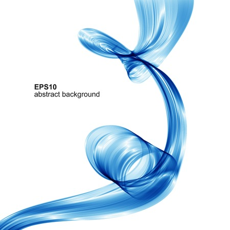 Vector abstract blue wave background Illustration