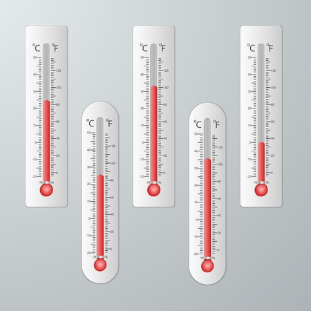 thermometers: Modern thermometers for design set.